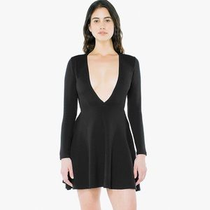 American Apparel Deep V Skater Dress